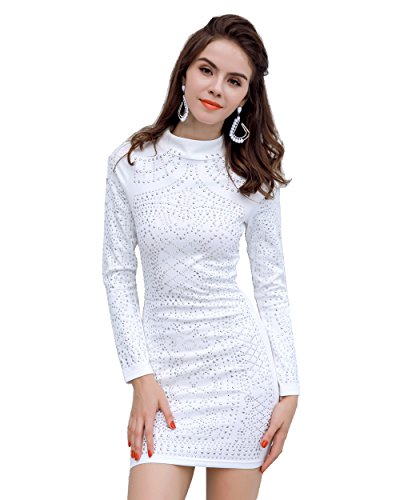 04385e4620d Miss ord Missord Women s Long Sleeve High Neck Bodycon Tight Casual Mini  Dress - Buy Online in Oman.