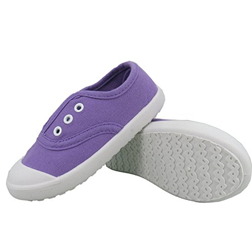Kikiz Candy Color Kids Toddler Canvas Sneaker Boys Girls Casual Shoes Purple Size 6M