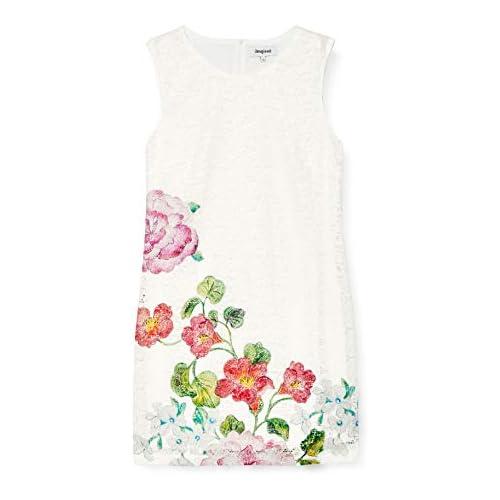 chollos oferta descuentos barato Desigual Vest_Bonney Vestido Blanco Crudo 1001 44 Talla del Fabricante 44 para Mujer
