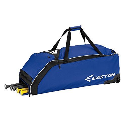 Easton E610W Bat & Equipment Wheeled Bag | Baseball Softball | 2019 | Royal | 4 Bat Compartment | Vented Pockets - Minimize Odor & Quick Dry | Removable Shoe -