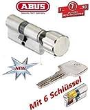 ABUS EC550 Profil-Knaufzylinder Länge Z50/K40mm mit 6 Schlüssel