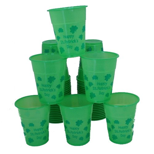 Discover Bargain Fun Express - St. Patrick Day Disposable Cups (50pc) for St. Patrick's Day - Party ...