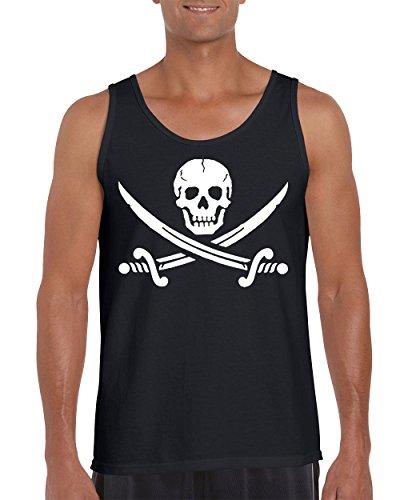 Jolly Roger Pirate Flag with Cross Swords Men's Tank Top Shirt for - Jolly Roger Sweatshirt