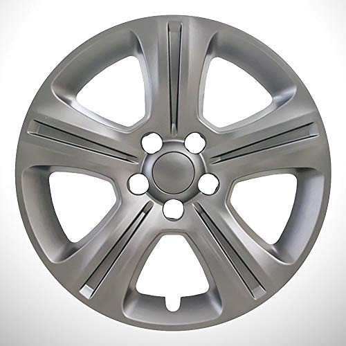 Elite Auto Chrome Carbon Gray 5 Split Spoke 17' Wheel Skins fit for 15-17 Charger SE (17' Wheel Gray)