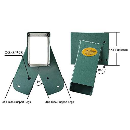 Green BETOOLL A-Frame 2 Brackets Swing Set Bracket with Mounting Hardware
