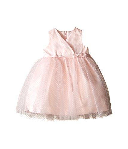 US Angels Baby Girl's Cross Bodice Tulle Dress Dress, Blush, 18M