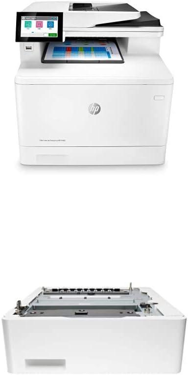 HP Color LaserJet Enterprise M480f Multifunction Duplex Printer (3QA55A) with HP LaserJet 550 Sheet Feeder Tray (CF404A)
