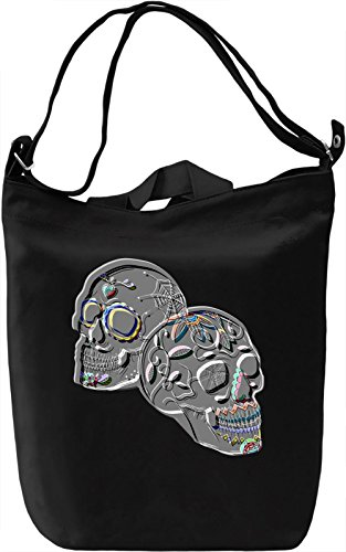 Psychedelic Skulls Borsa Giornaliera Canvas Canvas Day Bag| 100% Premium Cotton Canvas| DTG Printing|