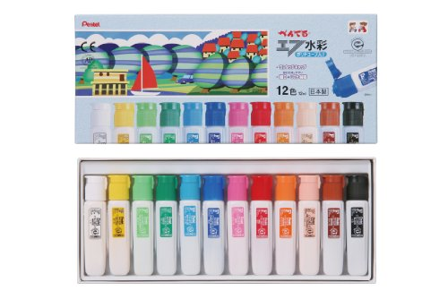 pentel-paint-f-watercolor-wfc2-12-poly-tube-containing-12-colors