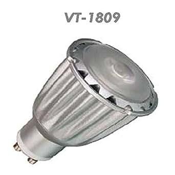 V-TAC 1518 7 W GU10 Led Strahler Spot Einbaulampe 180 - 250 V COB LEDs 3000 Kelvin warmweiß VT-1809