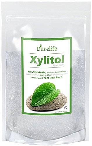 DureLife Birch XYLITOL Sugar Substitute 1 LB (16 OZ) Made From 100 % Pure Birch Xylitol In The USA , NON GMO - Gluten Free - Kosher , Packaged In A Resealable zipper lock Stand Up Pouch Bag by DureLife (Image #9)