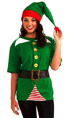 Forum Novelties Unisex Adult Jolly Elf Costume Kit, Green/Red, One ()