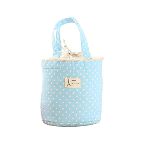 Franterd Waterproof Picnic Insulated Fashion Lunch Cooler Tote Bag Travel Organizer Box (Blue)