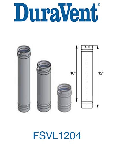 M&G Duravent FSVL1204 Vent Pipe Stainless Steel Cat Iii 4 In. X 12 In.