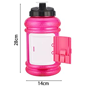2.2 L Water Bottle BPA Free Half Gallon Water Bottle for Gym,Outdoor Sports,Hiking ,Bodybuilding,Fitness Bottle by Colleer (Pink)