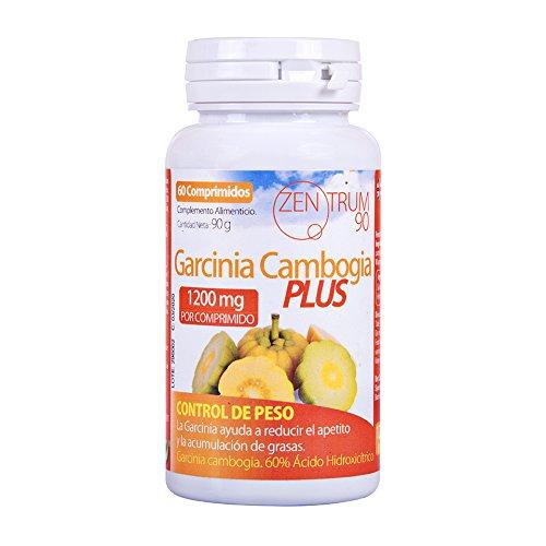 Garcinia Cambogia Plus 1200 mg para adelgazar y como supresor de apetito – Suplemento alimenticio con