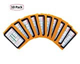 WristCoaches QB Wrist Coach - Playbook Wristband (Youth - Orange) - Heavy Duty Football Wristbands for Boys with Three Playsheet Compartments - Perfect for Flag Football and Tackle Football (10-Pack)