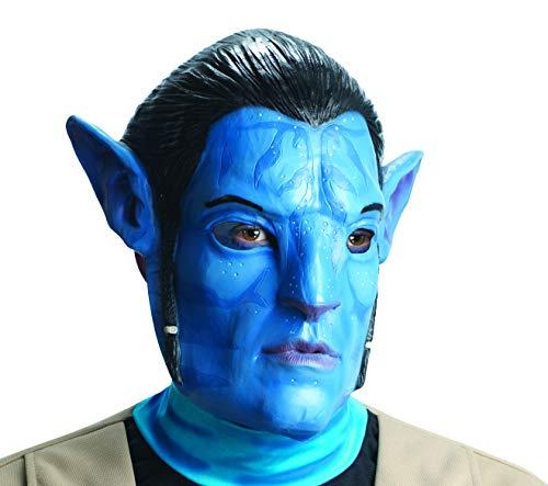 Avatar Jake Sully Vinyl 3/4 Mask, Blue, One