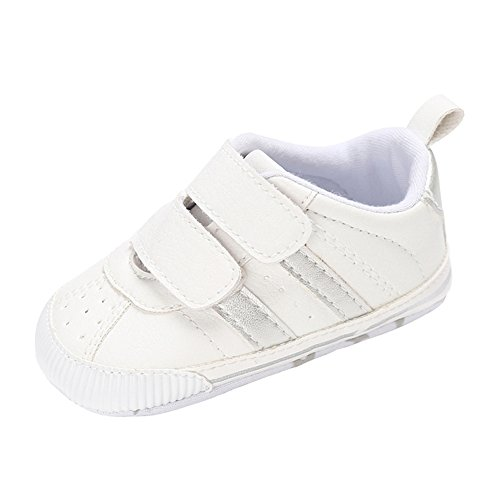 Annnowl Baby Shoes Soft Sole Sneakes 0-18 Months - Infant Canvas Shoes White