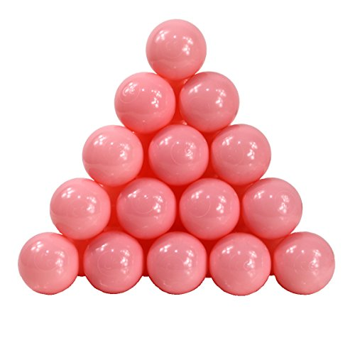 Langxun Pack Of 200 Pink Toy Plastic Balls For Girls Play