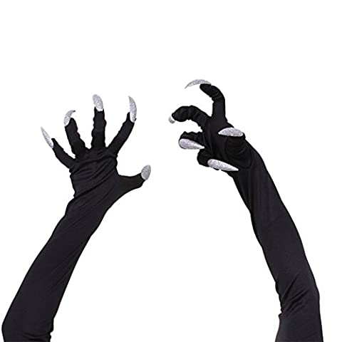 Halloween Costumes Long Fingernail Gloves Sleeves for Halloween Cosplay Props /Party Supplies/ Roleplay