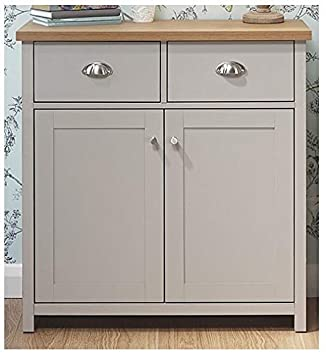 Xpress Delivery Lancaster Compact Sideboard In Grey Amazon Co Uk