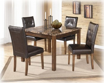 Amazon.com: Ashley Theo D158-225 5-Piece Dining Room Set with ...