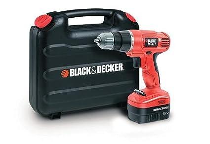 Black+Decker EPC12CAK-GB - Taladro atornillador (12 volts)