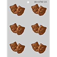 CK Products 2-1/2-Inch Comedy & Tragedy Mask Chocolate Mold