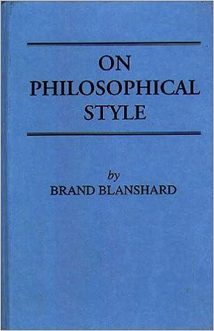 On Philosophical Style: Amazon.de: Blanshard, Brand: Fremdsprachige Bücher