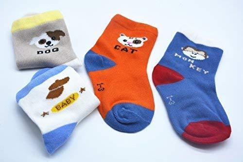 BOMPOW Baby Socks Unisex Boy Girl Toddler Sock for 1-3 Years Old Baby 10 Pack