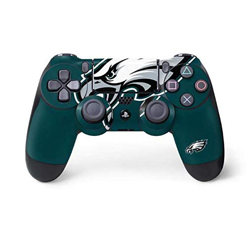 Skinit Philadelphia Eagles Large Logo PS4 Controller Skin - Officially Licensed NFL PS4 Decal - Ultra Thin, Lightweight Vinyl Decal Protective Wrap