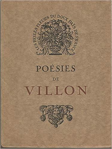 Amazon Fr Poesies De Villon Livre Broche Format 15 5 X