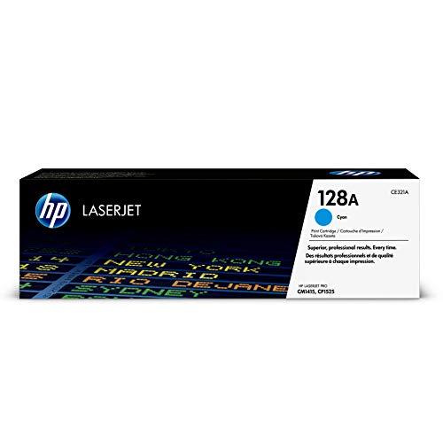 HP 128A (CE321A) Cyan Toner Cartridge for HP LaserJet Pro CM1415 CP1525 ()