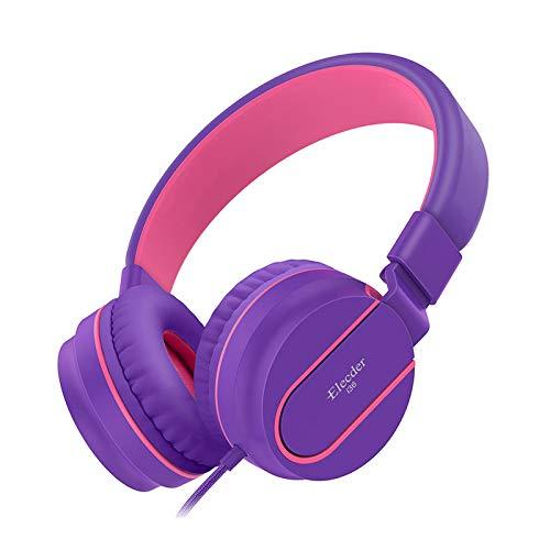 Elecder i36 Kids Headphones for Children, Girls, Boys, Teens, Adults, Foldable Adjustable On Ear Headphones with 3.5mm…