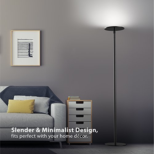 Trond Halo X Led Torchiere Floor Lamp Dimmable 30w 5500k