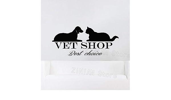 Geiqianjiumai Mascota Perro Gato Etiqueta de la Pared Tienda ...