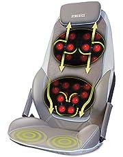 Homedics CBS-1000-EU Seduta Massaggiante con Innovativo Sistema a T, 14 Diversi Programmi Selezionabili, Opzione CALORE, Seduta con Vibrazione Sotto la Coscia, Telecomando