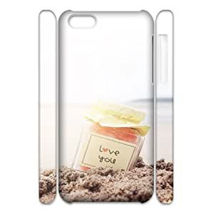 Iphone 5C 3D Customized Phone Back Case with I MISS YOU Image