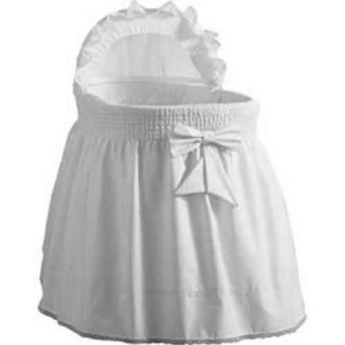 BabyDoll Sea Shell Rainbow Bassinet Set, White baby doll bedding 3070bas-white