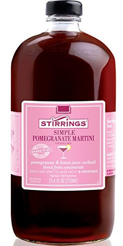 (STIRRINGS, Mixer, Pmgrnt Martini Cktl, Pack of 3, Size 750 ML, (Dairy Free Kosher Contains Refined)