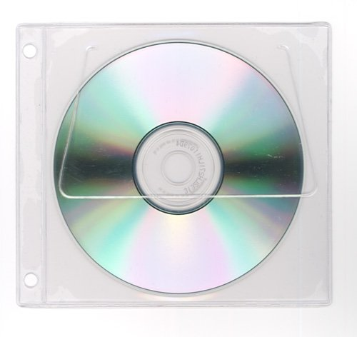 StoreSMART - CD/DVD Window Case for 3-Ring Binders - Clear Plastic - 25-Pack - R1849CD-25 - 3 Ring Cd Holder