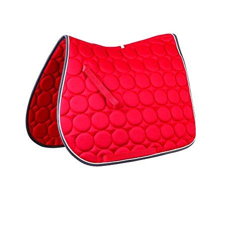Roma Circle Quilt AP Saddle Pad Royal/White/Green ()