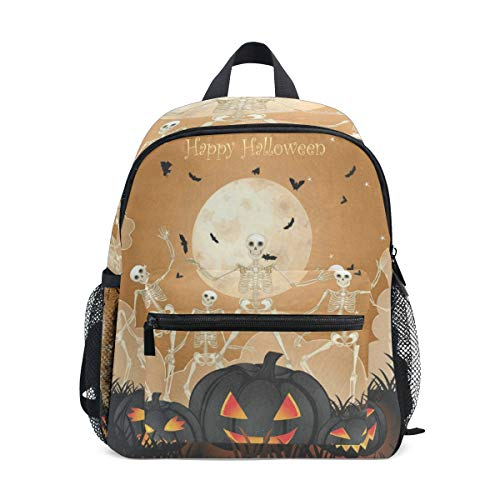 Halloween Pattern Pumpkin School Backpack For Boys Kids Preschool School Bag Toddler Bookbag -