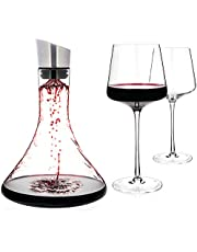 Luxbe - Wine Decanter with Aerator Pourer Lid - 2 in 1