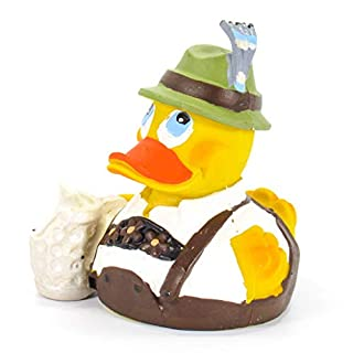 Octoberfest German Beer Rubber Duck Bath Toy | All Natural, Organic, Eco Friendly, Squeaker | Imported from Barcelona, Spain