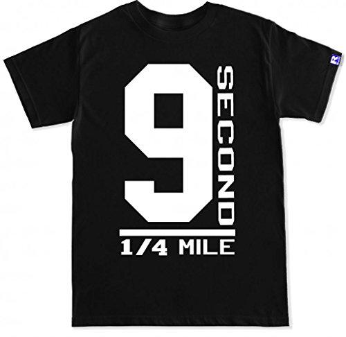 FTD Apparel Men's 9 Seconds T Shirt - Medium Black