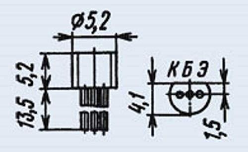 Transistors Silicon KT645A Analogue 2N3903, 2N4400, 2N5845, 2SC367G USSR 100 pcs