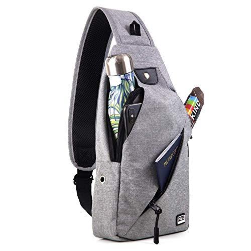 Peak Gear Sling Crossbody Backpack - Urban Messenger Day Bag (Gray) ()
