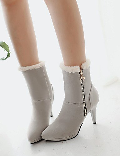 de Marrón eu35 5 Gris eu35 gray us5 5 us5 Beige brown uk5 us7 XZZ Semicuero mujer uk3 Botas Puntiagudos uk3 gray eu38 Stiletto Negro cn34 cn38 Vestido cn34 Zapatos Tacón fxnZqv5w